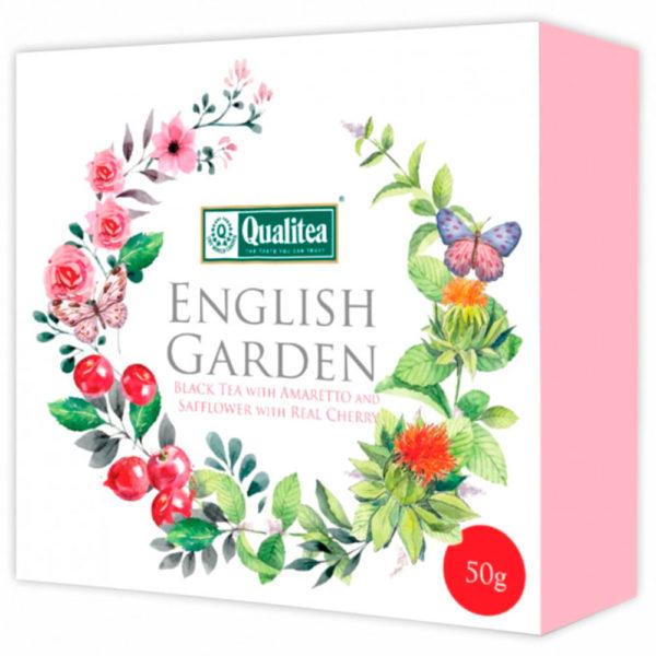 """Чай """"Кволити"""" Английский сад. Черный чай с вишней и амаретто, картон"""